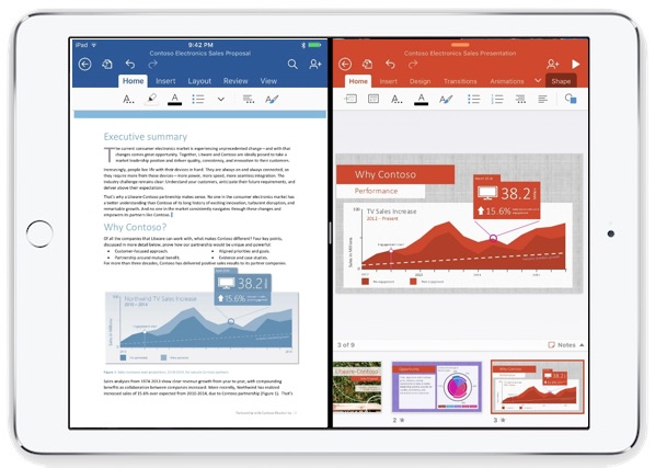 split-view-ipad-microsoft-office-apps-side-by-side-screen